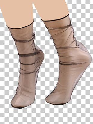 Shoe Sock Fishnet Thigh Boot PNG