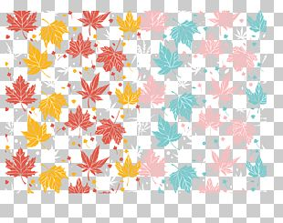 Seamless Color Maple Background PNG