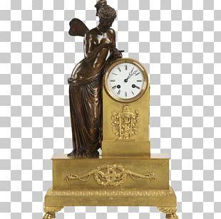 Mantel Clock Ormolu Fireplace Mantel Bronze PNG