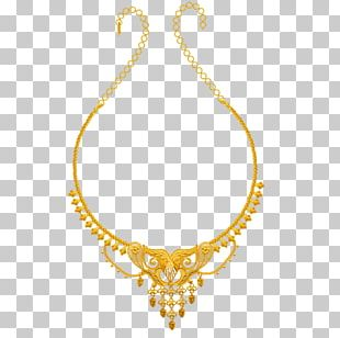 Jewellery Necklace Colored Gold Chain PNG