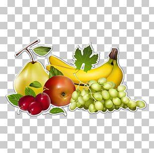 Vegetable Fruit Banana Grape PNG