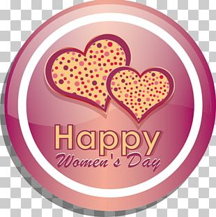 International Womens Day Valentines Day Heart Woman PNG