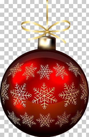 Christmas Ornament Red Snowflake PNG