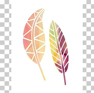 Petite Size Watercolor Painting Leaf PNG