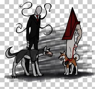 Slenderman Pyramid Head Dog Walking Cat Siberian Husky PNG
