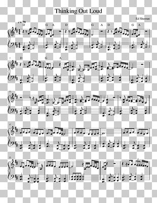 Thinking Out Loud Sheet Music Violin PNG