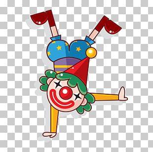 Clown Cartoon Circus Illustration PNG