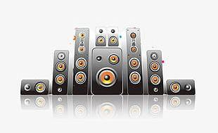 Cartoon Musical Elements Speaker PNG