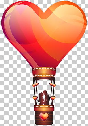 Love Valentine's Day Hot Air Balloon Romance PNG