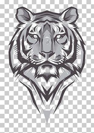 T-shirt Bengal Tiger Drawing Illustration PNG