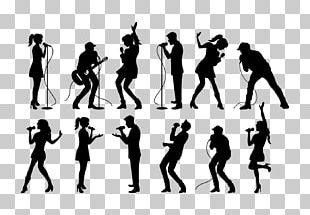 Silhouette Singing PNG