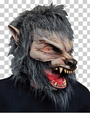 Big Bad Wolf Halloween Costume Latex Mask PNG