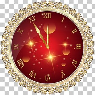 New Year Christmas Clock PNG