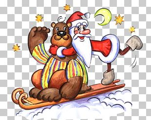 New Year Santa Claus Drawing Christmas Reindeer PNG