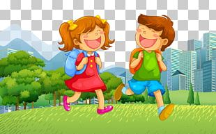 School Child Illustration PNG