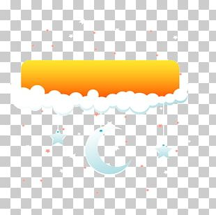 Yellow Sky Night Clouds PNG