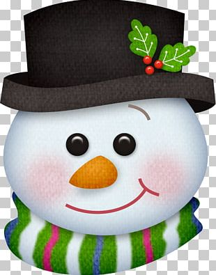Snowman Smiley Face PNG