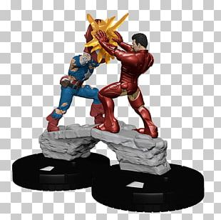Captain America HeroClix Iron Man Civil War Marvel Comics PNG