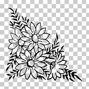Flower Floral Design Rubber Stamp Postage Stamps PNG