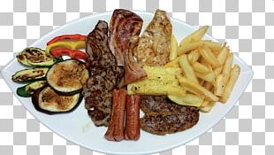 Souvlaki French Fries Steak Frites Full Breakfast Fatányéros PNG