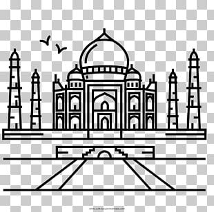 Taj Mahal Coloring Book Drawing Seven Wonders Of The Ancient World Landmark PNG