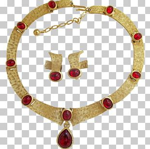 Ruby Earring Necklace Jewellery Costume Jewelry PNG