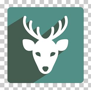 Reindeer Santa Claus Moose Christmas Icon PNG