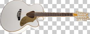 Twelve-string Guitar Gretsch White Falcon Musical Instruments Acoustic-electric Guitar PNG