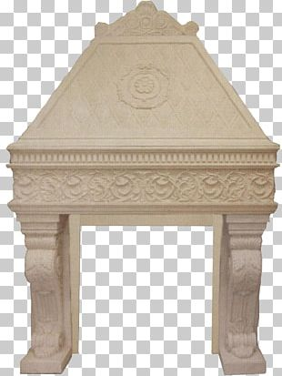 Fireplace Mantel Stone Carving Molding Fire Pit PNG