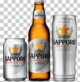 Lager Beer Bottle Sapporo Brewery PNG