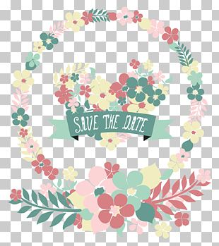Wedding Invitations Wreath PNG
