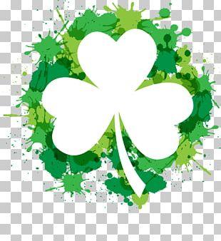 Shamrock Saint Patrick's Day Four-leaf Clover PNG
