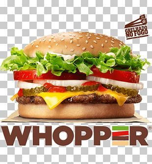 Whopper Hamburger Cheeseburger French Fries Cheese Sandwich PNG