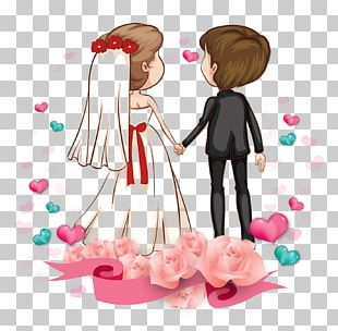 Love Romance Couple Cartoon Marriage PNG