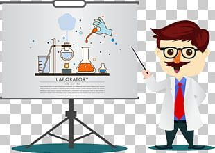 Cartoon Teacher Chemistry PNG