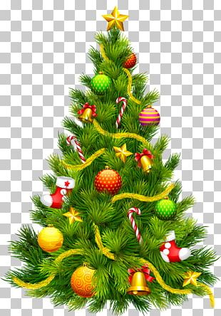 Christmas Tree Santa Claus Candy Cane PNG