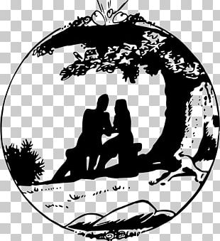 Silhouette Drawing Love PNG