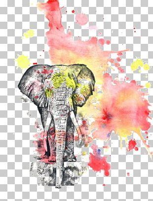Watercolor: Flowers Watercolor Painting Printmaking Elephant PNG