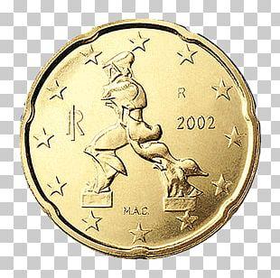 Italy 20 Cent Euro Coin Italian Euro Coins 1 Cent Euro Coin PNG