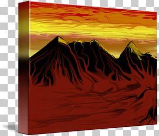 Modern Art Painting Heat Rectangle PNG