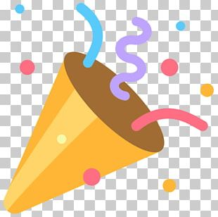 Party Popper Emoji Confetti Wedding PNG