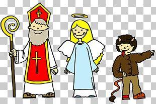 Saint Nicholas Day Child Chort Family Christmas PNG