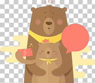 Bear Cartoon Illustration PNG