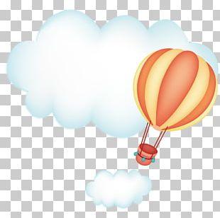 Cloud Sky Hot Air Balloon PNG