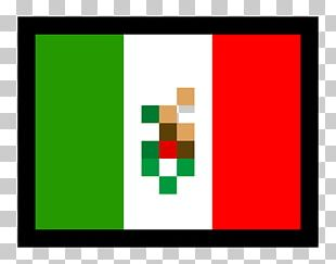 Flag Of Mexico Pixel Art PNG