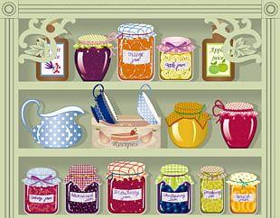 Pantry Kitchen Mason Jar PNG