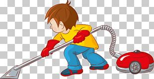 Cleaning Cartoon Vacuum Cleaner PNG
