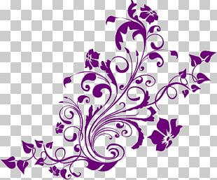 Flower Purple Floral Design PNG