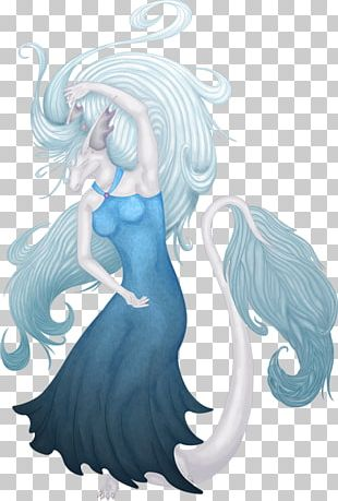 Fairy Long Hair Tail Mermaid PNG