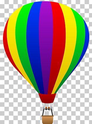 Hot Air Balloon Flight Drawing PNG